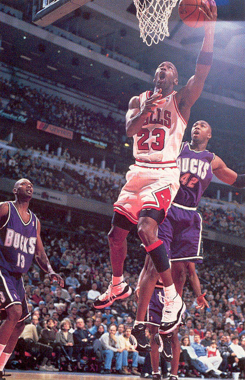 Michael Jordan wearing Air Jordan XI 11 Concord (26)