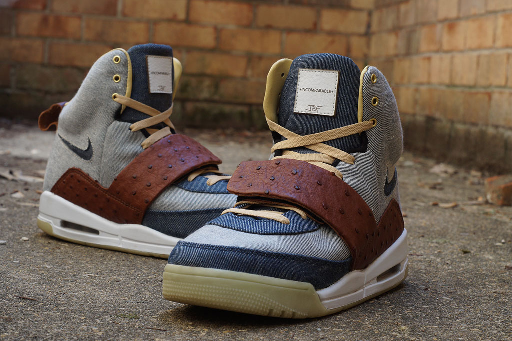 Nike Air Yeezy 'Ostrich + Denim' by JBF Customs (2)