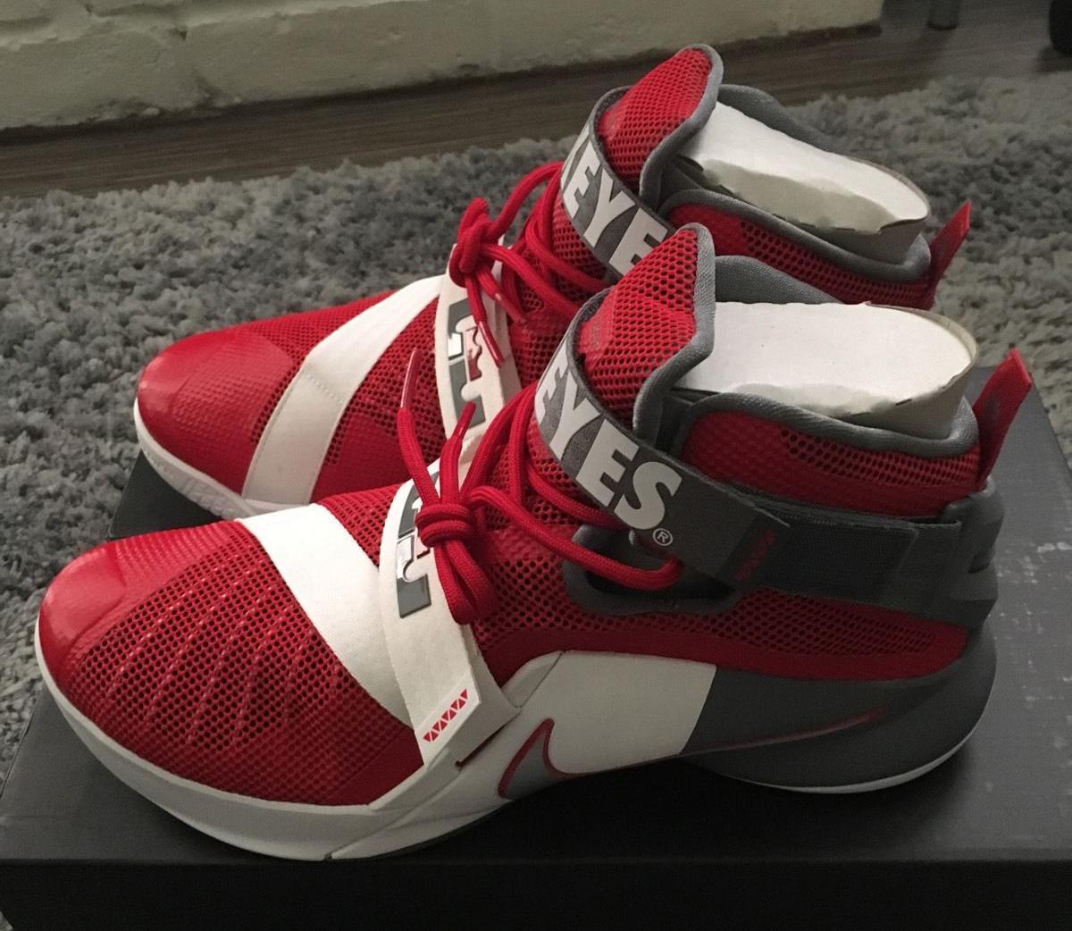 c641019edb25 Ohio State Fans Will Appreciate These Nike LeBrons