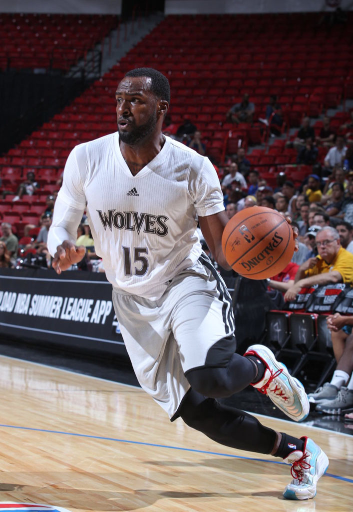 Shabazz Muhammad wearing adidas KB8 Crazy II 2 Vegas Nights