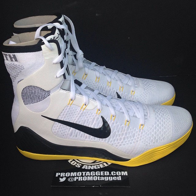 Nike Kobe 9 Elite White/Black-Gold