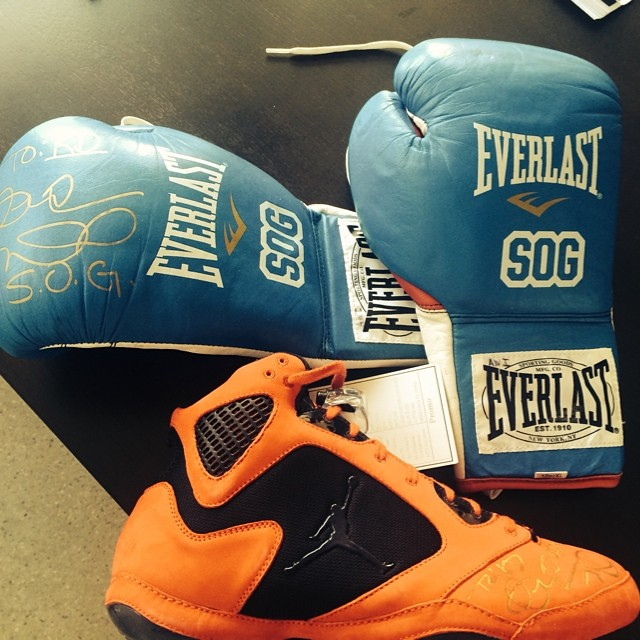 Andre Ward's Air Jordan V 5 Boxing Boots