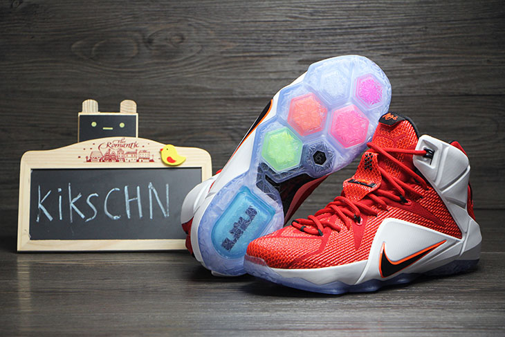 72e66bf8397 Buy Online 2015 Nike Lebron 12 Lion Heart Red White-Crimson-Blac ...