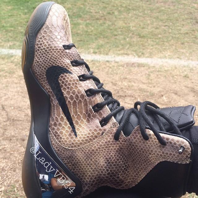 promo code dca00 f937b Vanessa Bryant wears Nike Kobe IX 9 EXT Bbrown