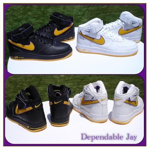 super popular 2f0f7 d6277 Nike Air Force 1 Mid Kobe Bryant Lakers PEs
