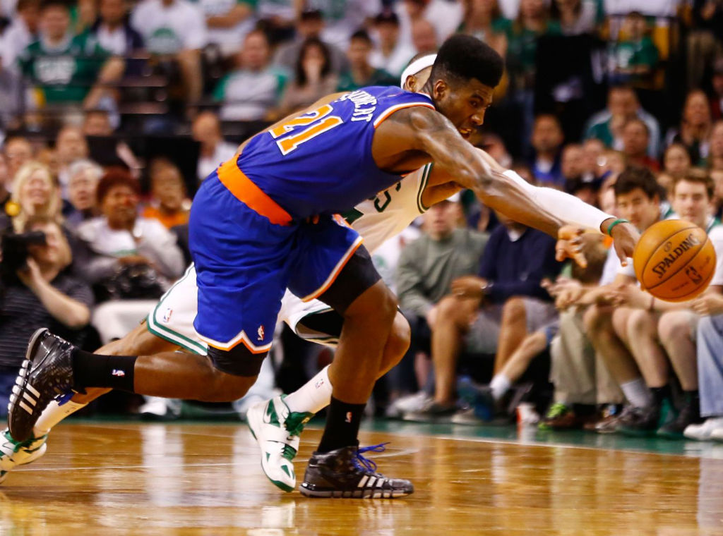 Iman Shumpert wearing adidas Crazyquick Black Lead