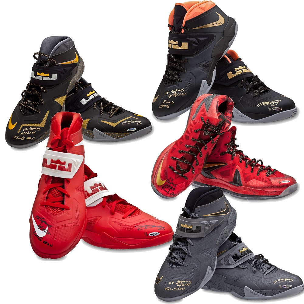 wholesale dealer 9fd98 1af46 For  125K, You Can Own Every Nike Sneaker LeBron James Wore in the 2014 NBA  Finals