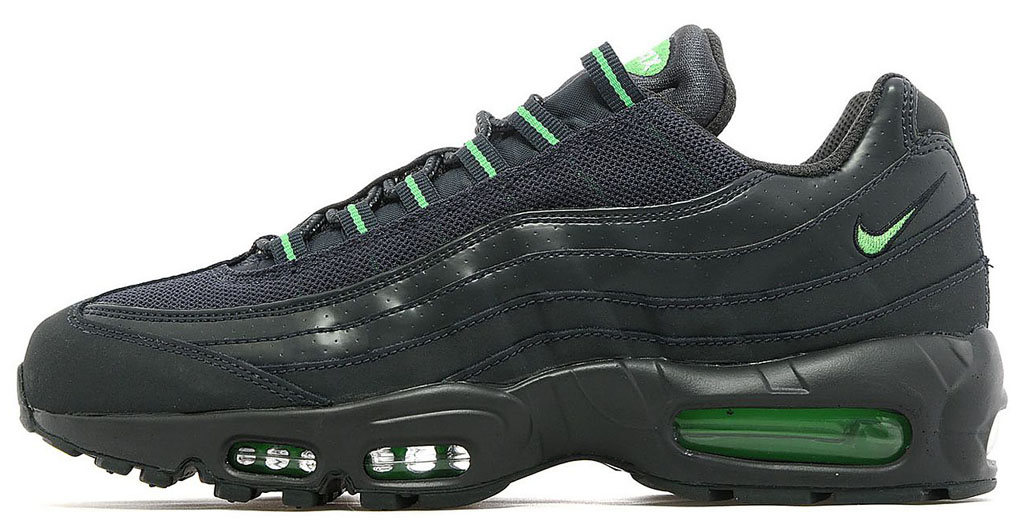 green and black air max 95