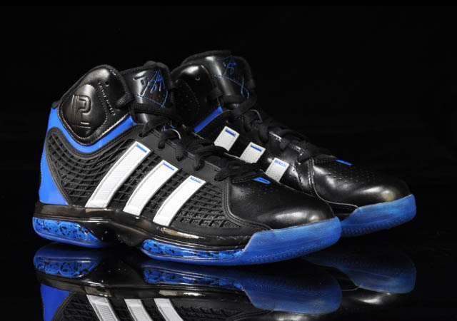 the latest aecde 32bc3 ... adidas adiPower Howard Orlando Away Black White Blue G20282 Front Angle  ...