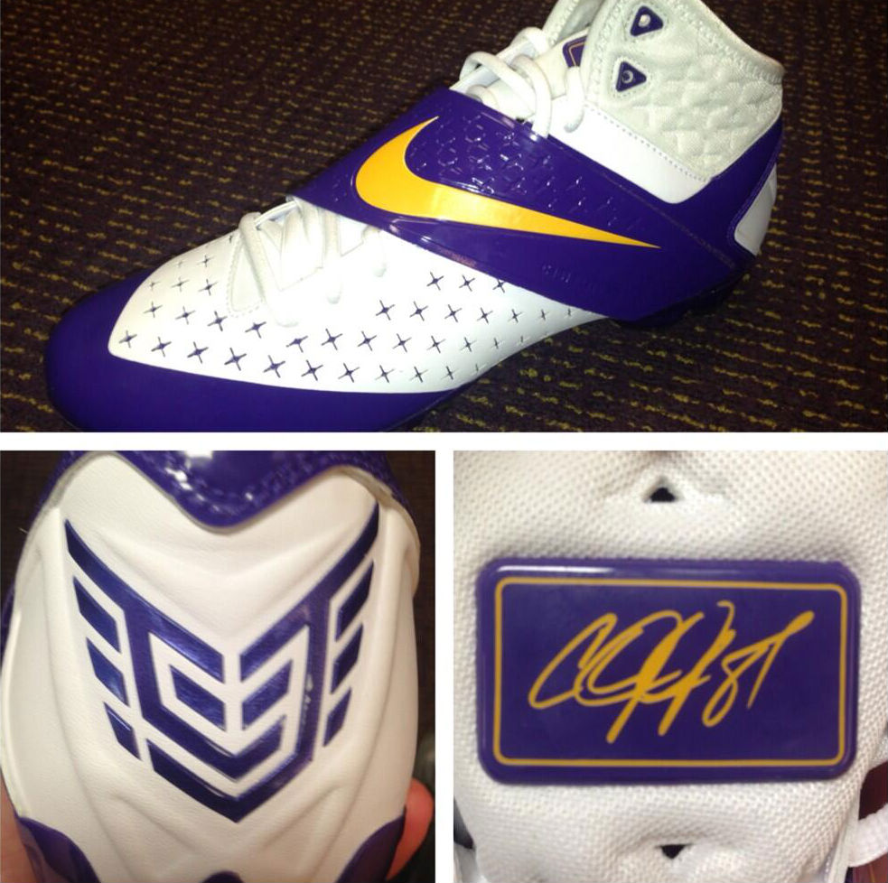 Nike CJ81 Elite TD LSU Tigers PE