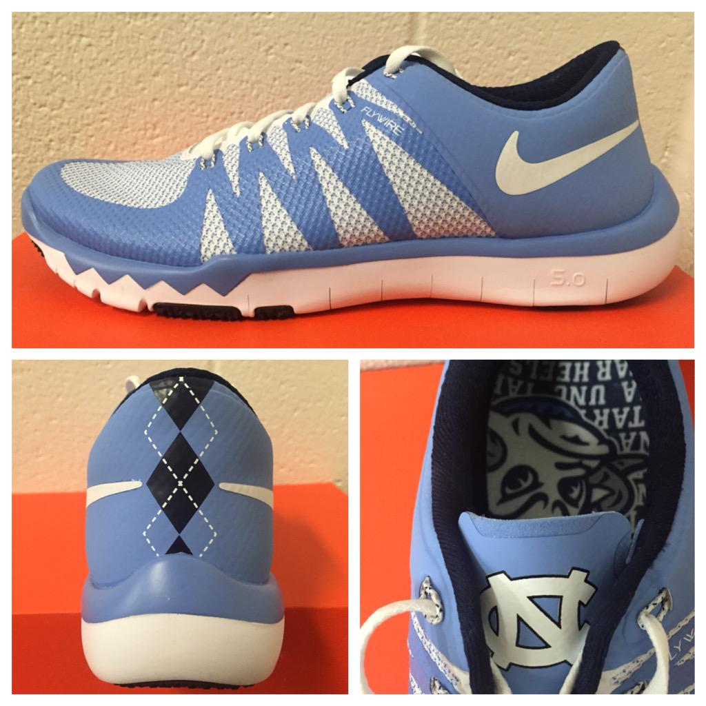 The UNC Tar Heels Have Their Own Argyle Nike Trainers ... North Carolina Football Shoes