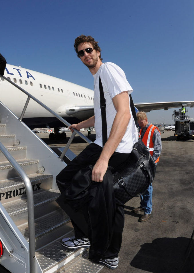 Pau Gasol wearing Nike Air Max 2012