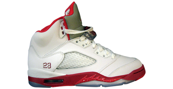 e620c99413ead3 Air Jordan Retro 5 Girl s White Legacy Red Scarlet 440892-101