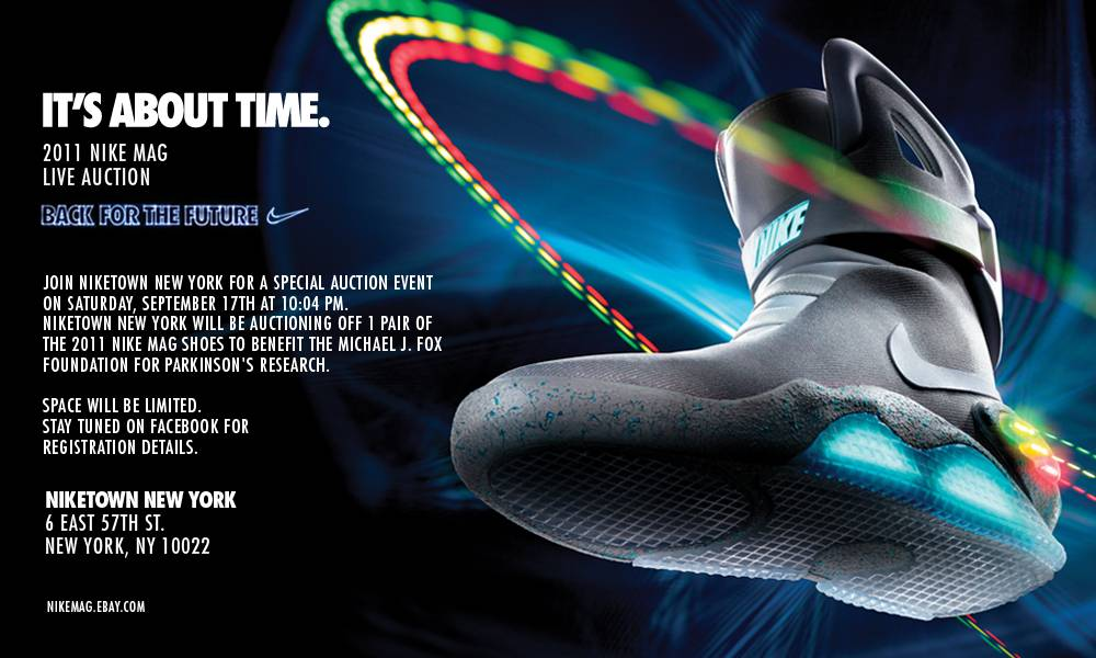Nike MAG Back to the Future Shoes Niketown New York Auction