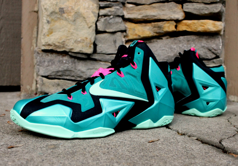 best service 4baae 3174a UPDATE  Nike LeBron XI - South Beach