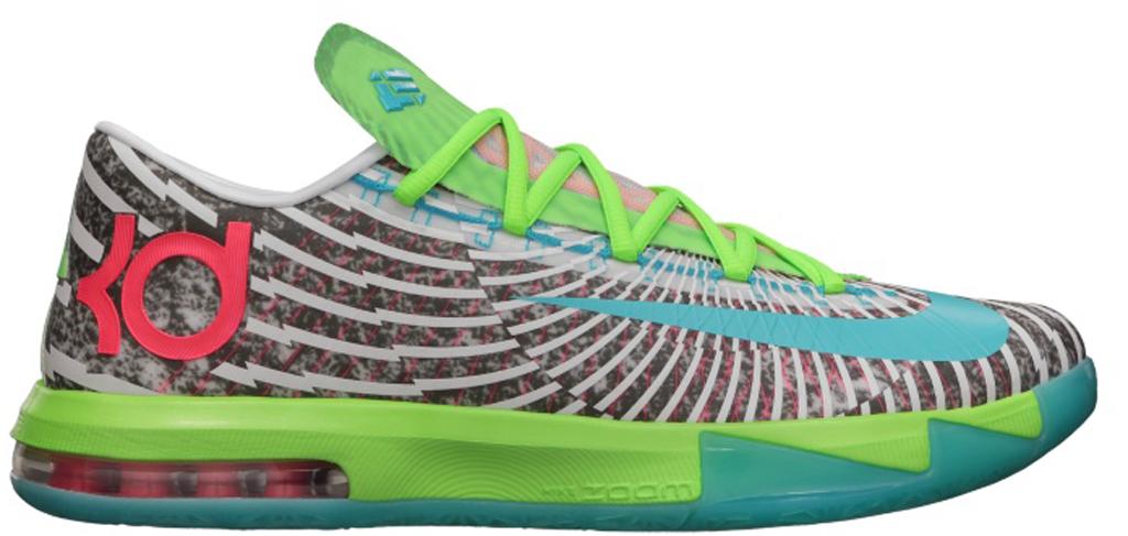 ed8f39e145c6 Nike KD VI Supreme  DC Pre-Heat  618216-400 Gamma Blue Dusty Grey-Flash Lime