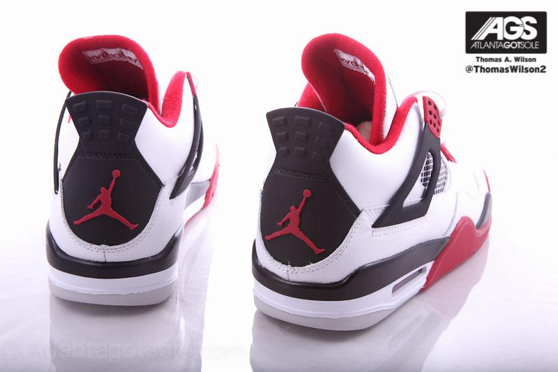 air jordan retro 4 red black white