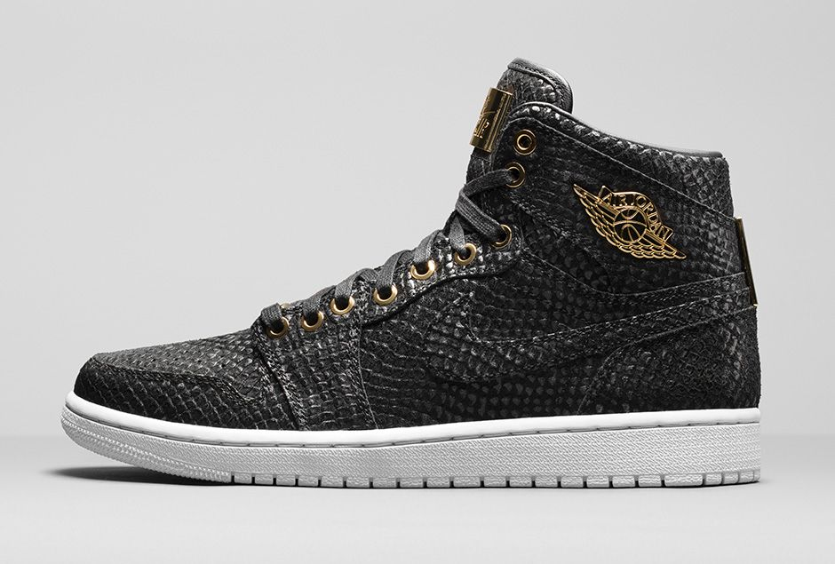 Air Jordan 1 Pinnacle Black/Gold 705075-030 (2)
