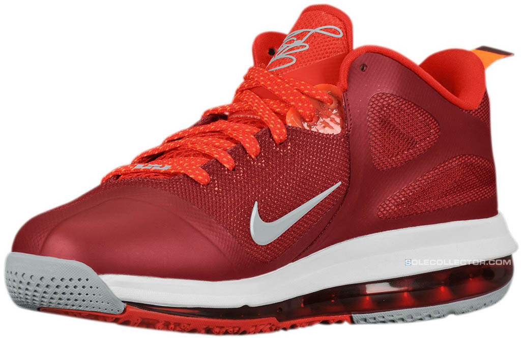 brand new 552a9 10d6c Nike LeBron 9 Low Team Red Challenge Red Wolf Grey 510811-600 (2)