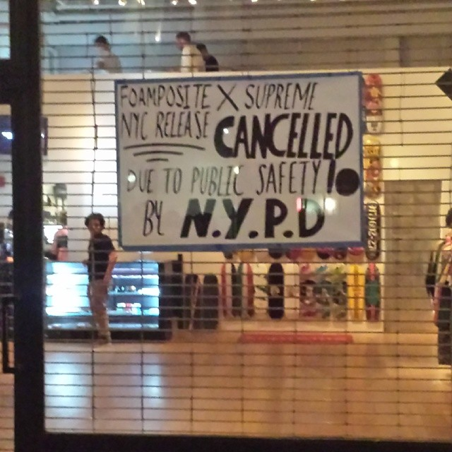 NYPD Shuts Down Supreme x Nike Air Foamposite One In-Store Release (2)