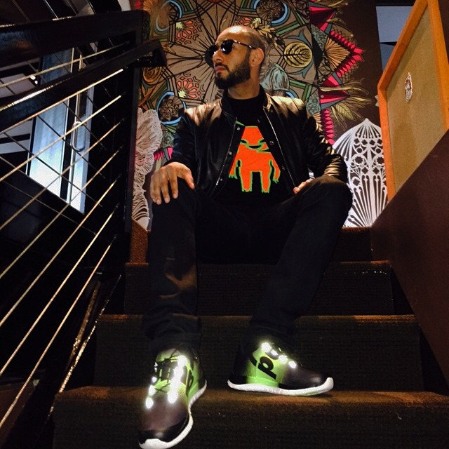 Swizz Beatz wearing Reebok ZPump Fusion