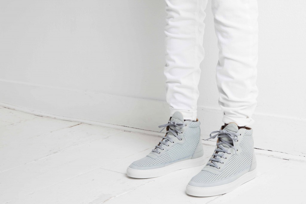 Filling Pieces Spring Summer 2014 high top blue perforated
