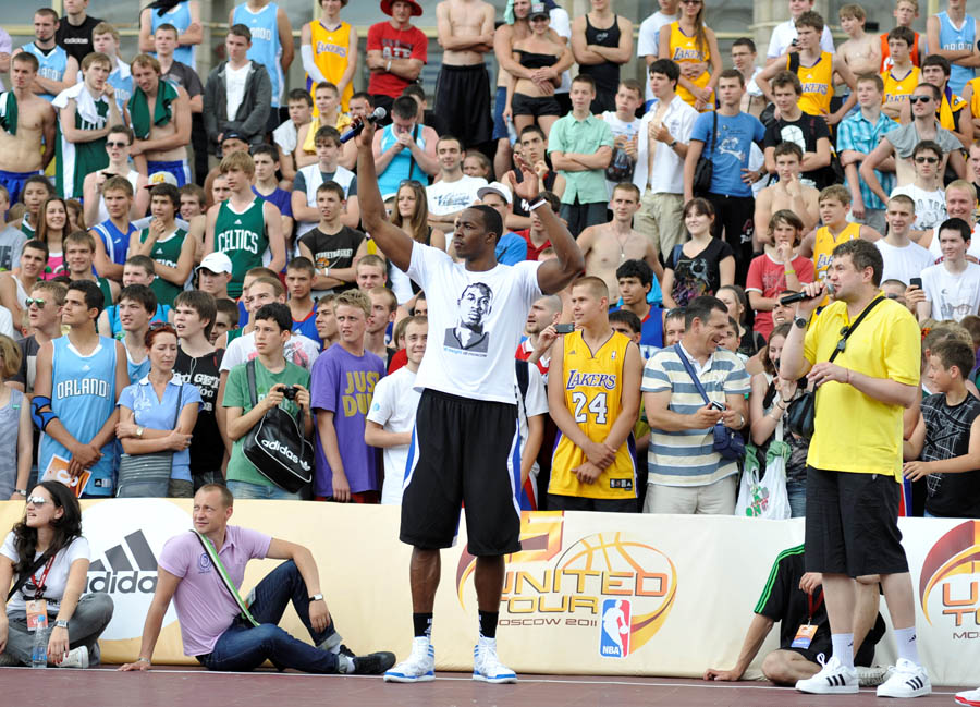 Dwight Howard's adidas European Tour Continues in Moscow