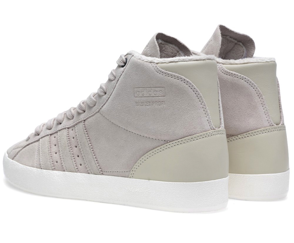United Arrows x adidas Originals Basket Profi OG in Bliss and White Vapour heel