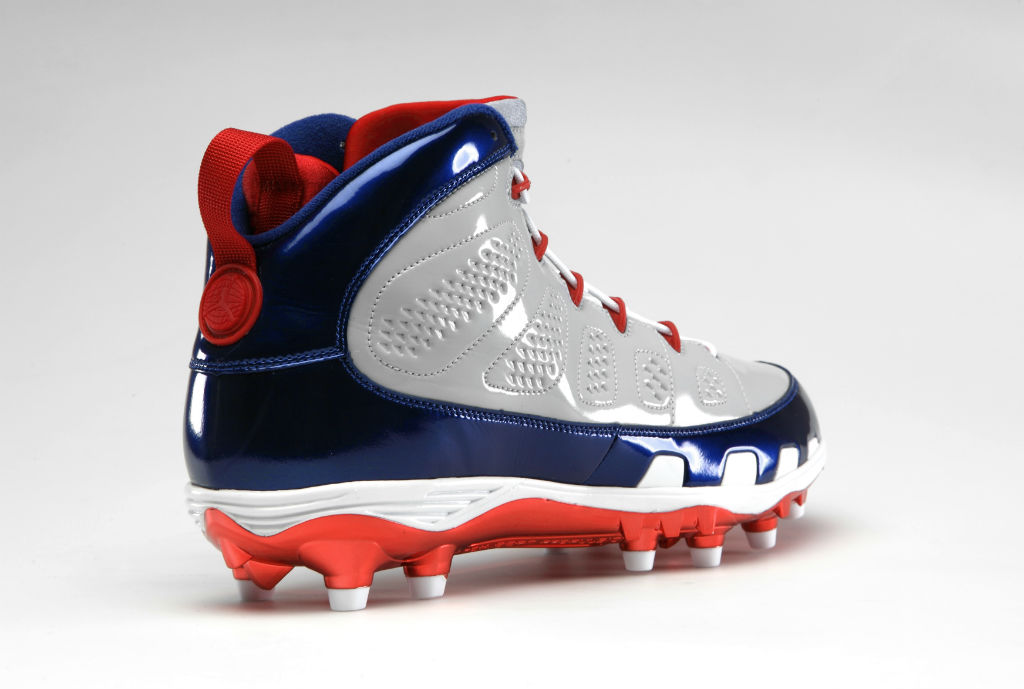 1c8105366e43 Air Jordan Retro IX 9 Cleats for Team Jordan - Hakeem Nicks Giants (2)