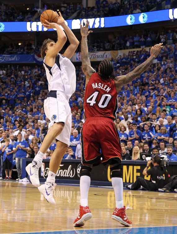 ... wearing a PE colorway of the Nike Air Max Hyperdunk 2010. Another look  at Dirk in the Hyperdunk 2010 0f007bd0c
