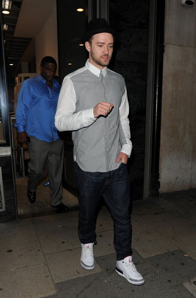 buy popular fb87f 358bc Justin Timberlake Wears Air Jordan 3 Retro '88