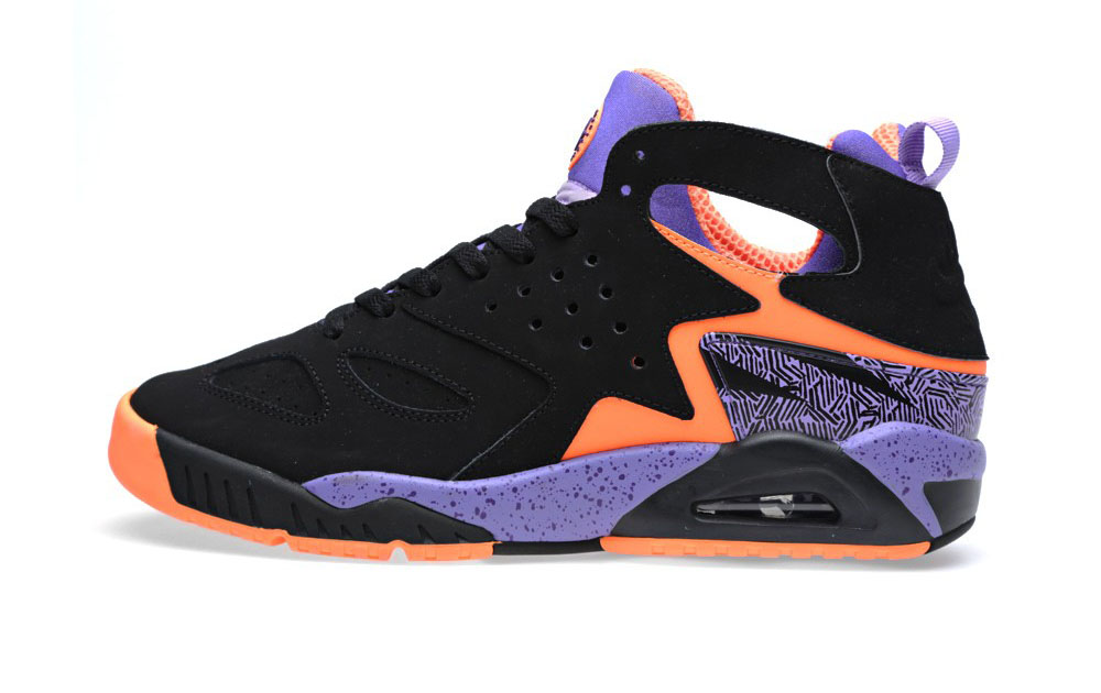Nike Air Tech Challenge Huarache - Black/Atomic Orange-Court Purple