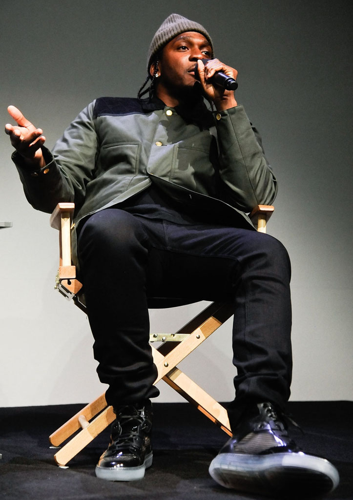 Pusha T wearing Balenciaga Pleated Sneakers