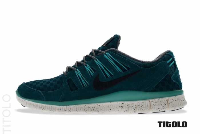 Nike Free 5.0+ EXT Woven Mid Turquoise Anthracite   Sole