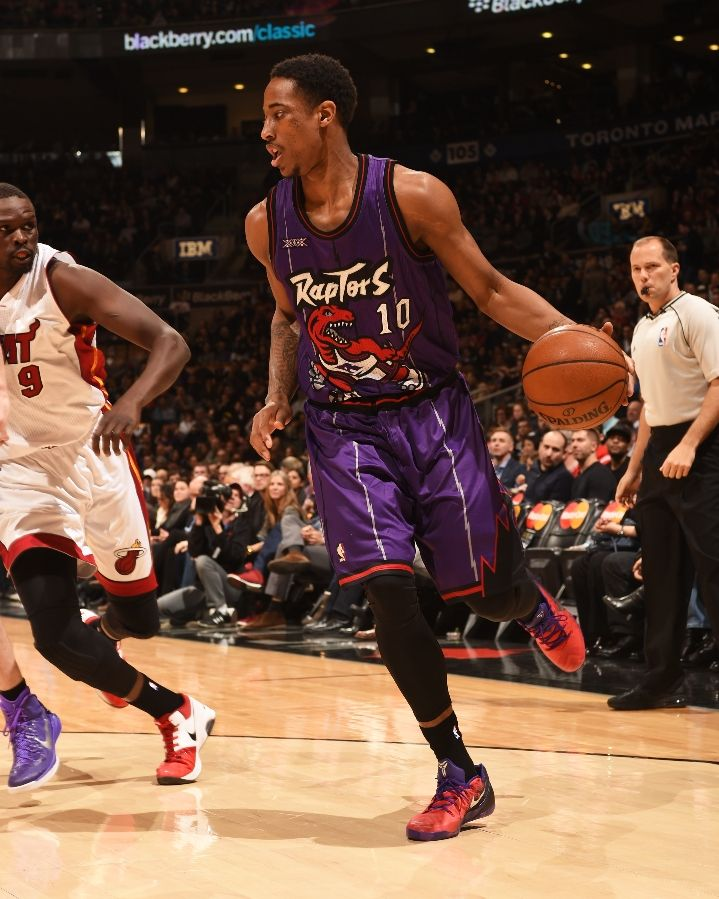 2a03cff6ce0e SoleWatch  DeMar DeRozan Takes On The Heat In Another Fan Designed ...