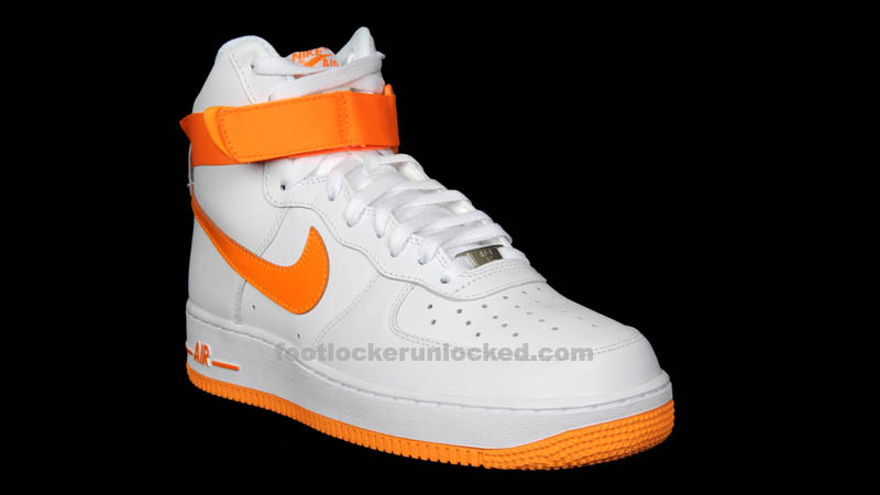 new concept 83458 6294d Nike Air Force 1 High - White/Vivid Orange | Sole Collector