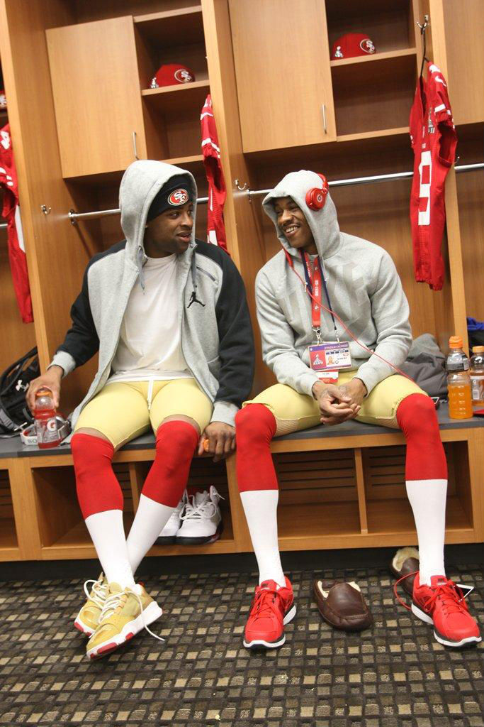 Michael Crabtree wearing Jordan Trunner Dominate PE