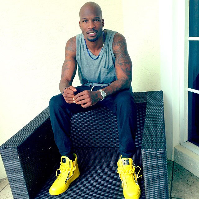 Chad Johnson wearing Giuseppe Zanotti Yellow Sneakers
