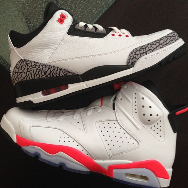 Fat Joe Picks Up Infrared Air Jordan 3 and Air Jordan 6