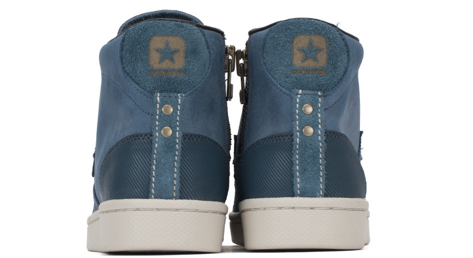 Converse First String Pro Leather Zip heel details