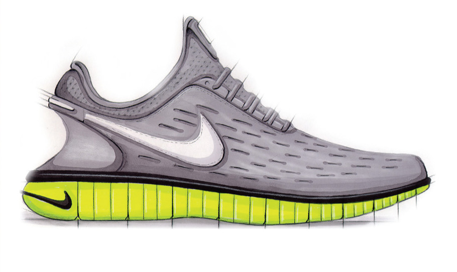 Adidas And Nike Shoes Drawing