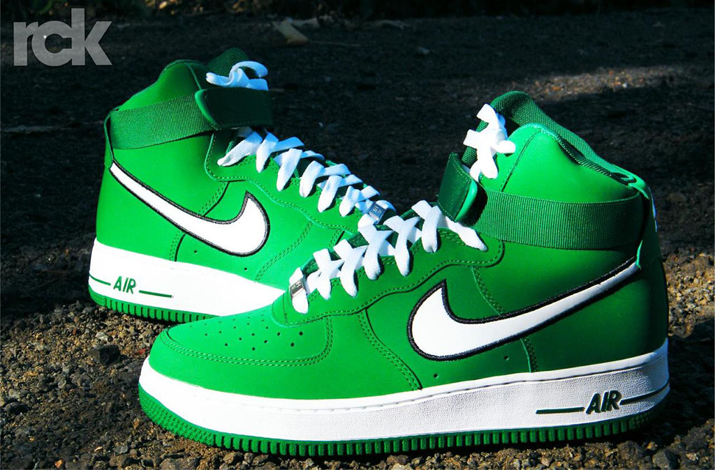 Nike Air Force 1 High Pine Green White 315121-301 (1)