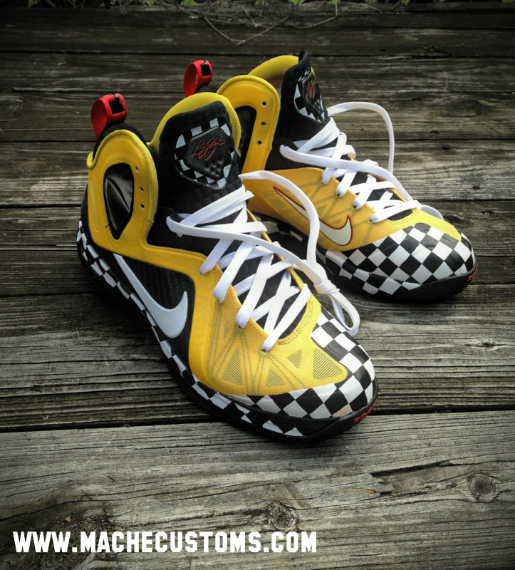 wholesale dealer c5f17 3a79d Nike LeBron 9 P.S. Elite Taxi Cab Confessions by Mache Custom Kicks (2)