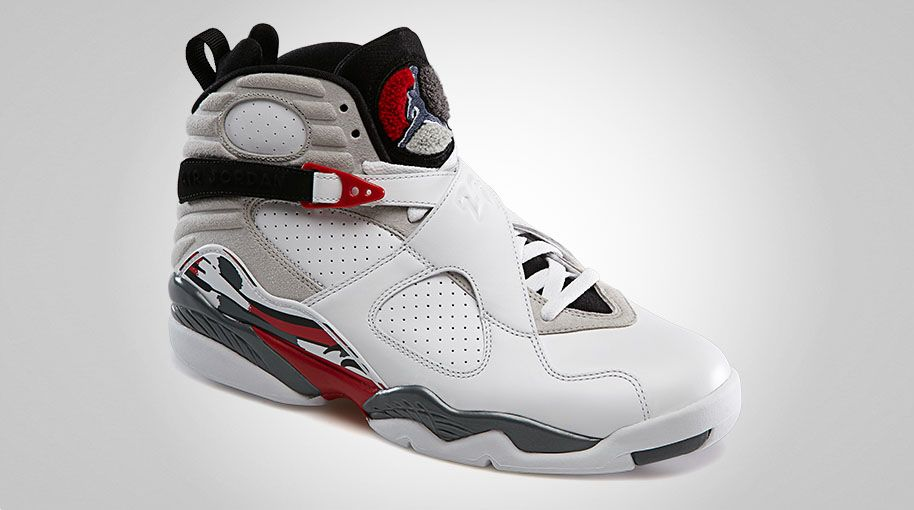 air jordan viii white/grey/red