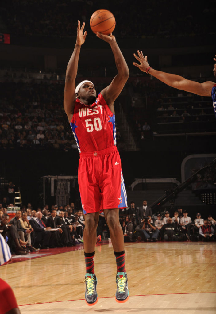 Zach Randolph wearing Nike Air Max Hyperguard Up PE (1)