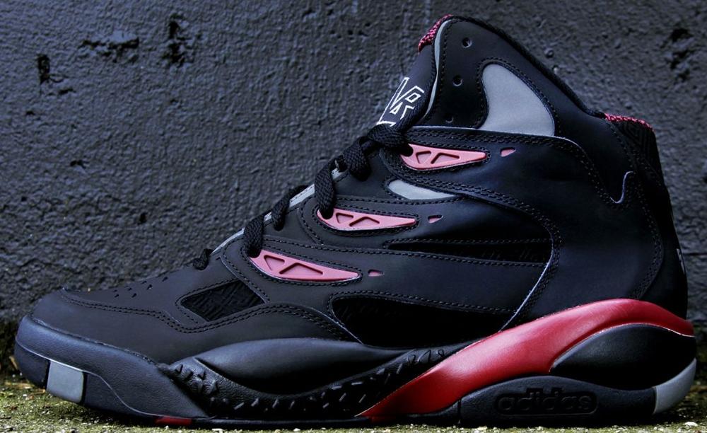 adidas Mutombo II Black/Black-University Red