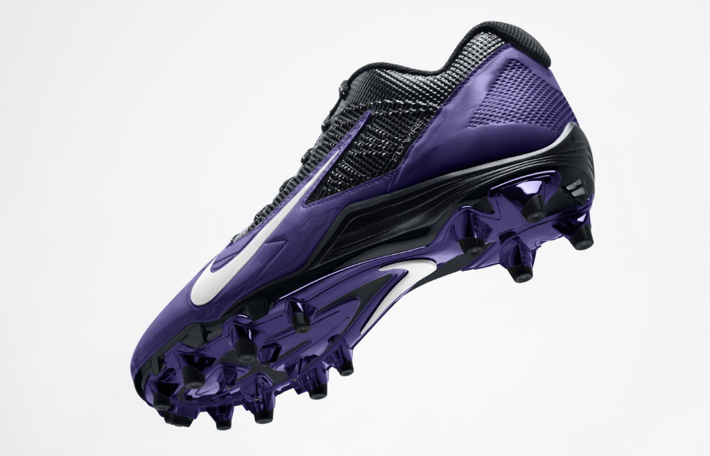 Nike Alpha Pro Cleats for Baltimore Ravens (3)