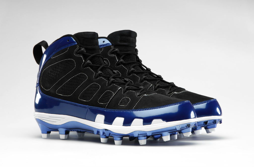 Air Jordan Retro IX 9 Cleats for Team Jordan - Dwight Freeney Colts (1)