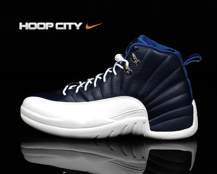 best service 214f5 8d954 Air Jordan Retro 12 - Obsidian/White-French Blue-University ...
