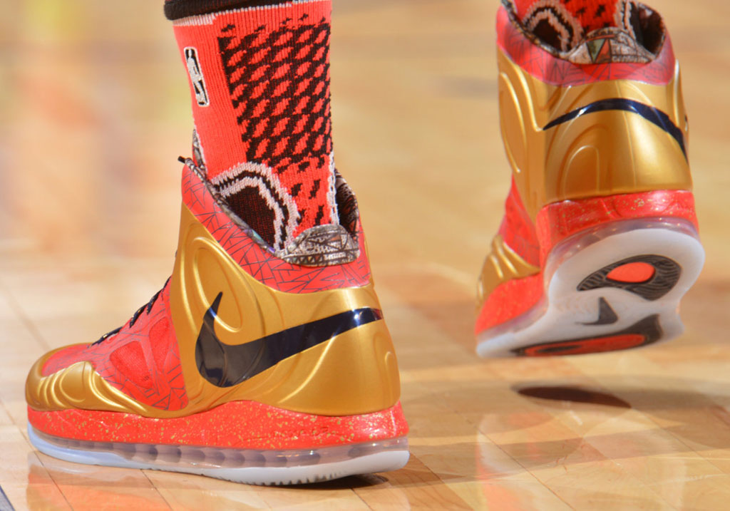 Anthony Davis wearing Nike Air Max Hyperposite Rising Stars PE